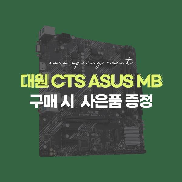 대원CTS ASUS MB 구매 시 사은품 증정