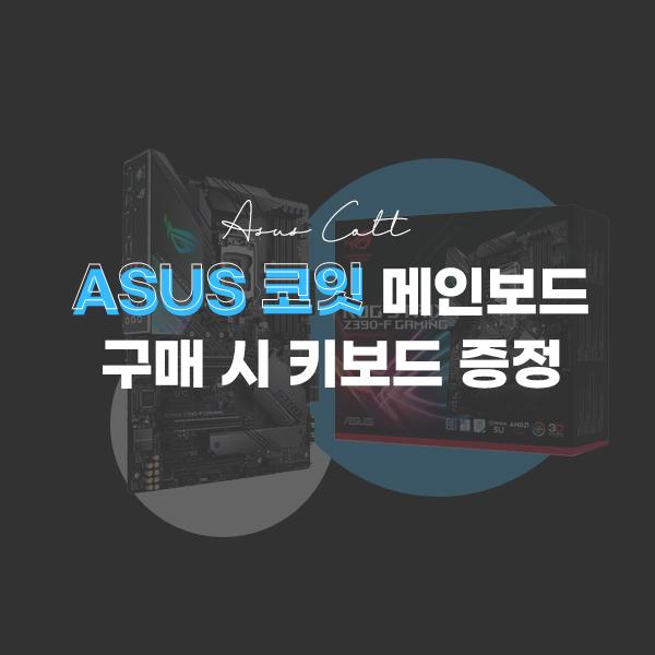 ASUS 코잇 메인보드 구매 시 게이밍 키보드 증정